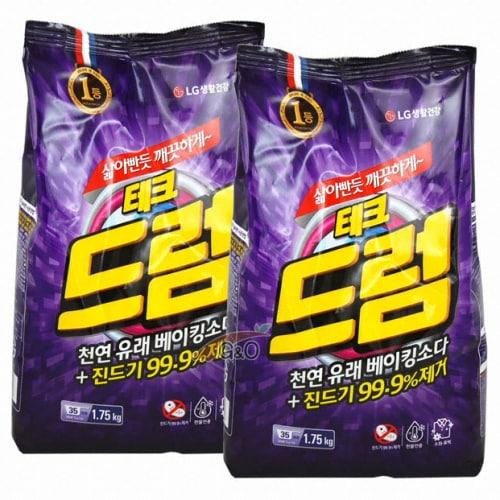 LG생활건강 테크 천연유래 베이킹소다+진드기 99.9%제거 드럼용 리필 1.75kg (2개)_이미지
