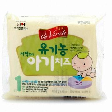 남양유업 드빈치 유기농 시작부터 아기치즈 1단계 180g (8개)