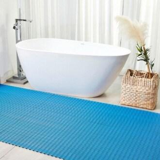 미리 욕실매트 파랑 50x120cm (1개)_이미지