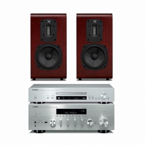 야마하 R-N803 + CD-N301 + 쿼드 S-2_이미지