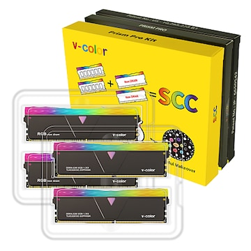 V-Color DDR4-3200 CL16 PRISM PRO RGB SCC KIT 패키지 (16GB(8Gx2))_이미지