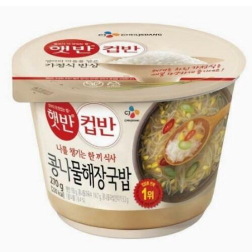 CJ제일제당 햇반 컵반 콩나물국밥 270g (18개)_이미지