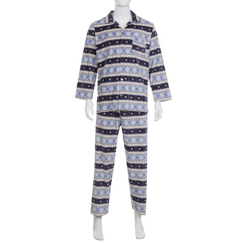 레노마 남성 노르딕 트리 밍크 잠옷 A83SH-0040067-BL_이미지