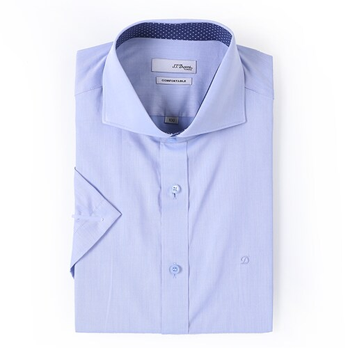 에스티듀퐁  슬림빅와이드 무지 배색 반소매 셔츠 SD8MM963BU_이미지