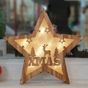 LED 크리스마스 큰별 우드조명