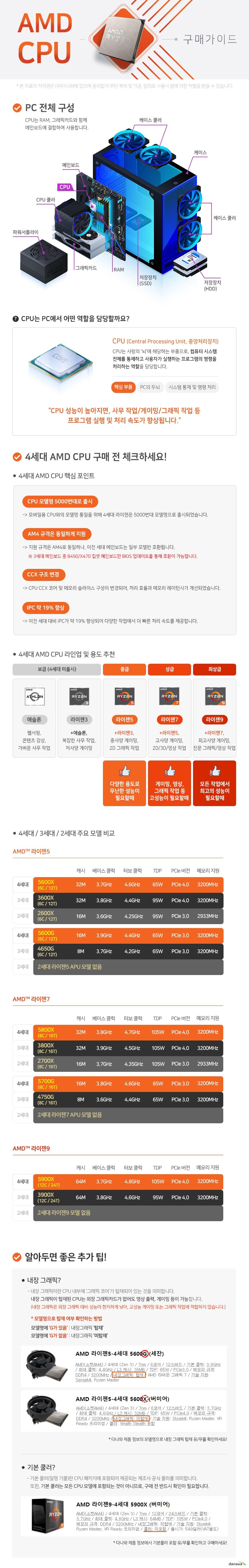 AMD 라이젠7-4세대 5800X (버미어) (멀티팩)