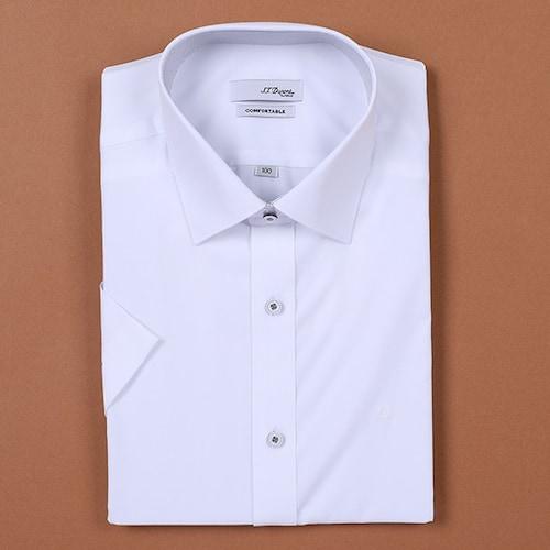 에스티듀퐁  반소매 슬림핏 무지 셔츠 SD8MM751WH_이미지