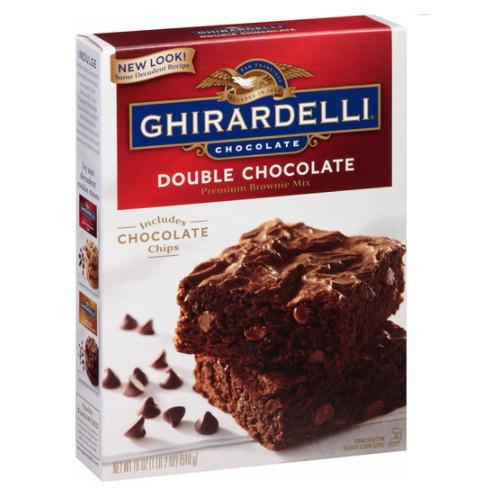 기라델리 더블 초콜릿 프리미엄 브라우니 믹스 510g(2개)