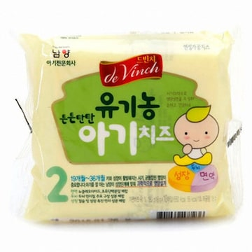 남양유업 드빈치 유기농 튼튼탄탄 아기치즈 2단계 10개입 180g (8개)