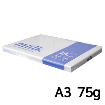 한국제지  밀크 복사용지 A3 75g 팩 (1,250매)
