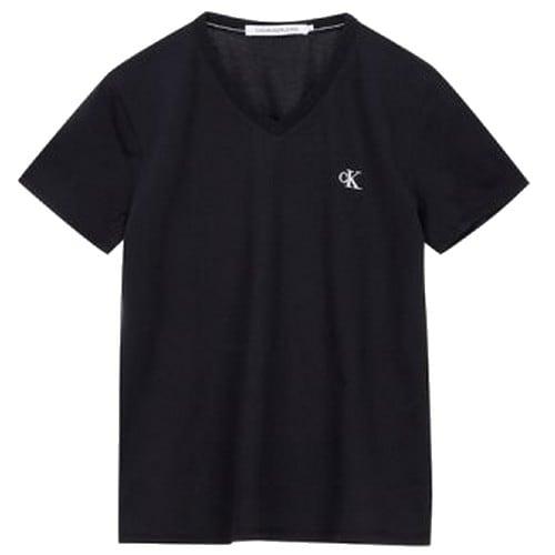 캘빈클라인진 슬림핏 브이넥 반팔 티셔츠 J315063_이미지