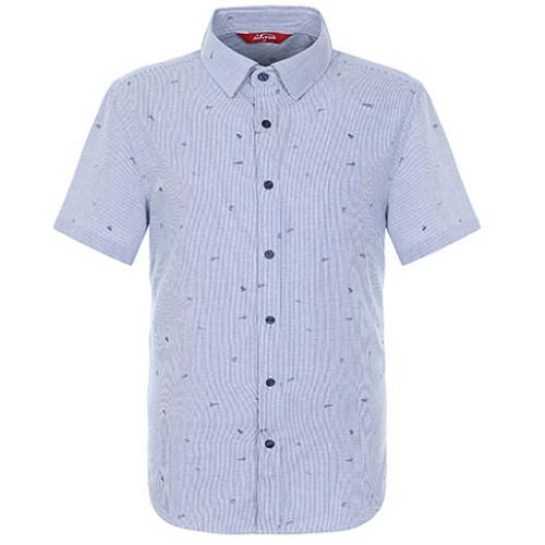 팬텀 핀 스트라이프 반팔 셔츠 21182JS501_BL_이미지