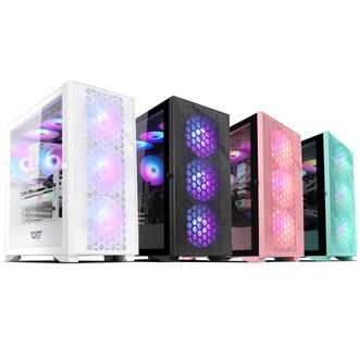 darkFlash DLX21 RGB MESH 강화유리 (핑크)_이미지