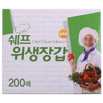 대진씨앤씨 쉐프 위생장갑 200매(1개(200매))