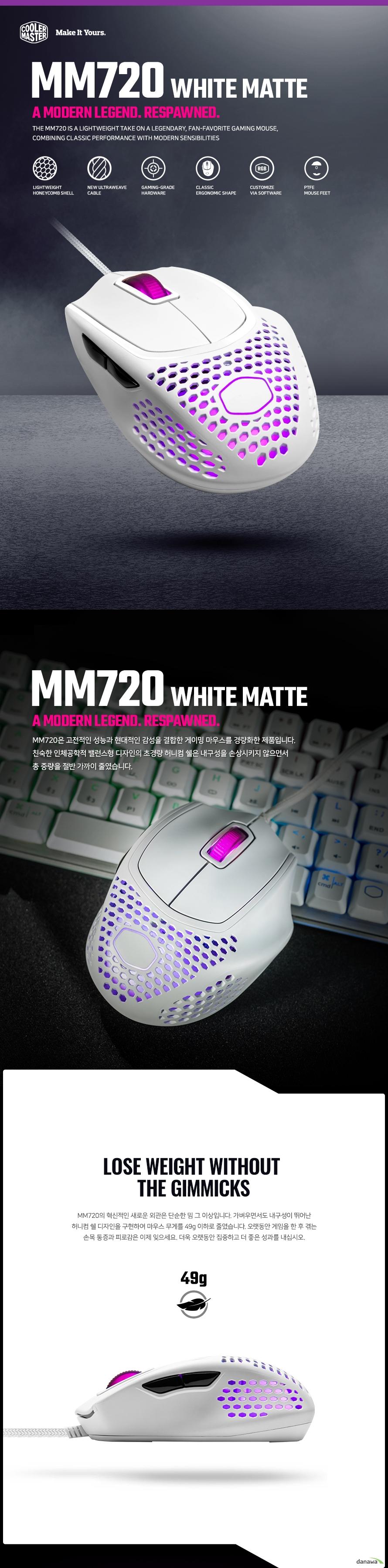 쿨러마스터 MM720 (Matte White)