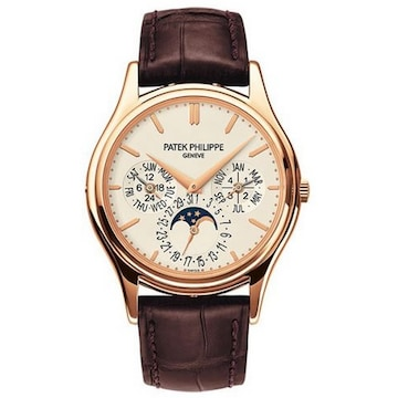 파텍필립  Grand Complications Silver Dial 18kt Rose Gold Mens Watch 5140R-011