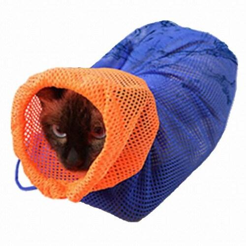 Aduck(어덕) 어덕 고양이 멀티목욕망 (블루)_이미지