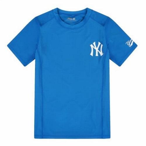 MLB 31SWC5931-50U 뉴욕양키스 로고 포인트 반팔 래쉬가드_이미지