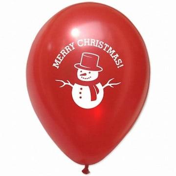 파티해 크리스마스 풍선 30cm - 눈사람(레드)