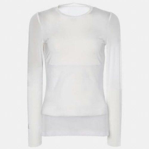 빈폴골프 여성 쿨스킨 메쉬 라운드넥 티셔츠 BJ9141A111_이미지