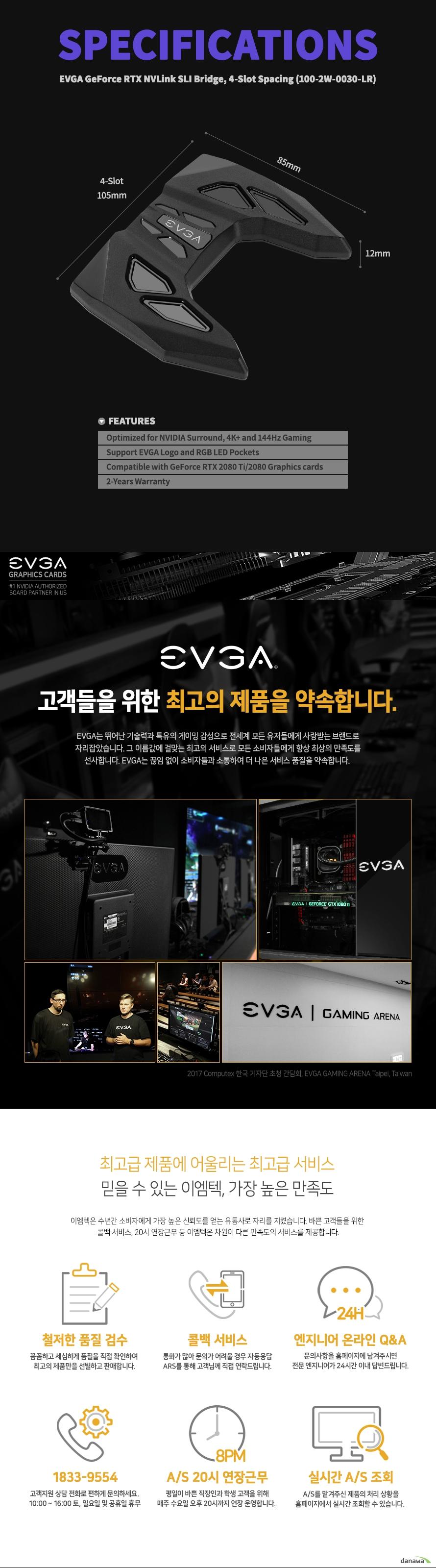 EVGA  NV링크 브릿지 4-Slot