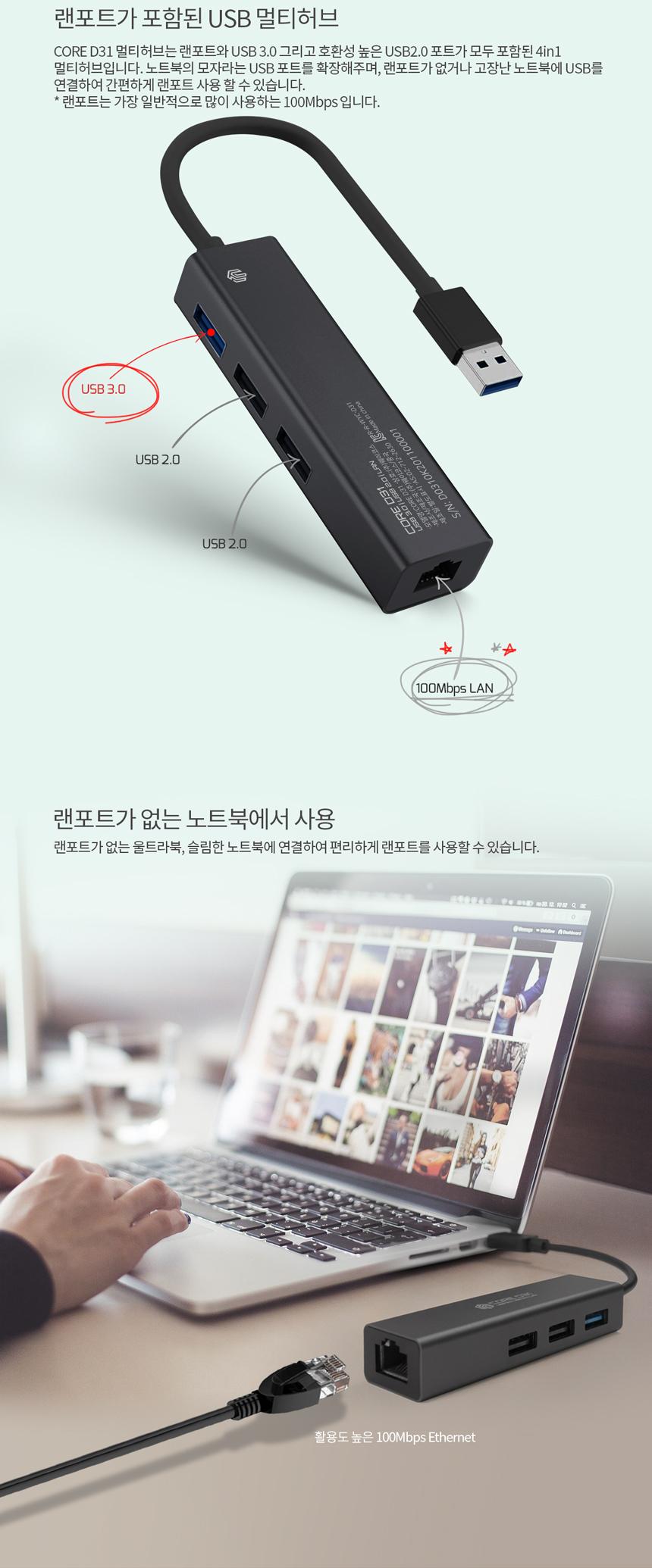 웨이코스 씽크웨이 CORE D31 (4포트/USB 3.0)