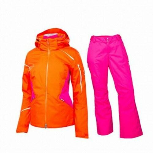 스파이더  판도라 여성 스키 상하의세트 144204 오렌지+핑크_이미지