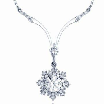 루첸리 플로라 GIA 0.5ct 다이아몬드 목걸이