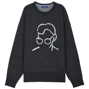 LF TNGT 남성 아트웍 인타샤 세미오버핏 스웨터 TGSW9D708CG