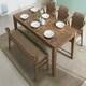 잉글랜더 아모스 고무나무 원목 식탁세트 1850 (의자3개+벤치1개)_이미지