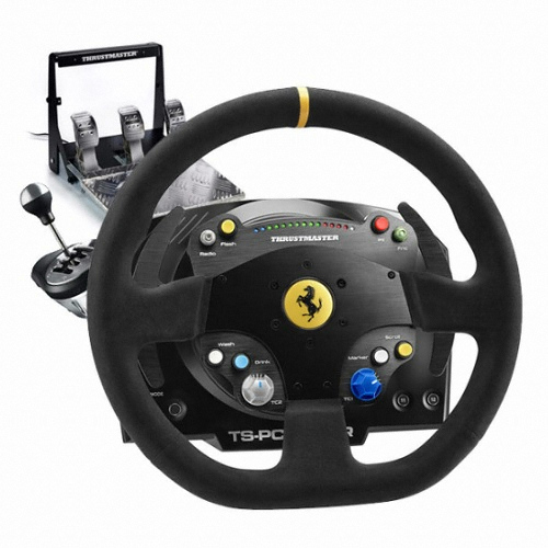 Thrustmaster TS-PC RACER Ferrari488 챌린지 에디션 하이엔드 레이싱 휠(+시프터, 3페달)