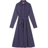 타미힐피거 여성 비스코스 모노그램 셔츠 드레스 T21J7TDR030WT1 0GZ