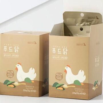 도그퓨어 푸드닭 통살간식 초록입홍합&글루코사민 22g (10개)_이미지