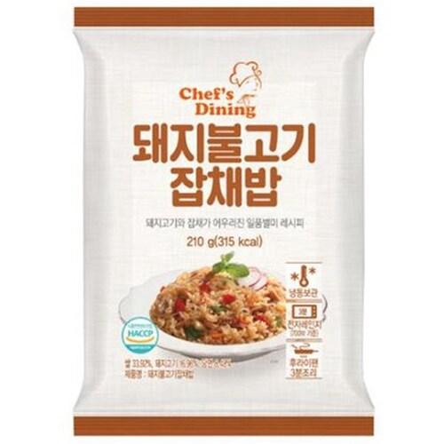 천일식품 쉐프다이닝 돼지불고기 잡채 볶음밥 210g (1개)_이미지