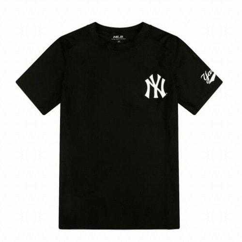MLB 31SWC5931-50L 뉴욕양키스 로고 포인트 반팔 래쉬가드_이미지