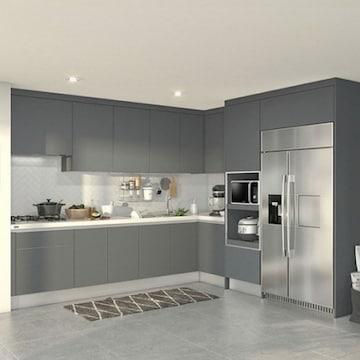 한샘  베리 키친S ㄱ자 키큰장+냉장고장형 (~6.8m)