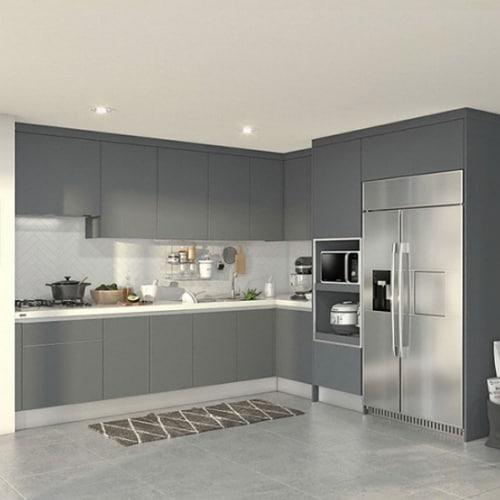 한샘 베리 키친S ㄱ자 키큰장+냉장고장형 (~6.8m)_이미지