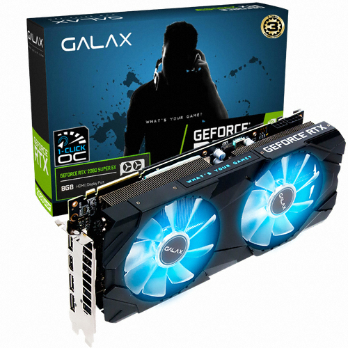 갤럭시 GALAX 지포스 RTX 2080 SUPER EX BLACK OC D6 8GB