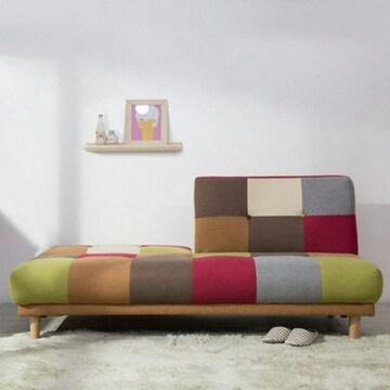에보니아 라인 독립형 패브릭 소파베드 3인용
