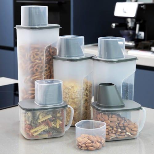 에브리데이컴퍼니 디자인룸즈 사각 곡물통 냉장고용기 5조세트_이미지