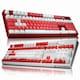 ABKO HACKER K8800 카일 광축 완전방수 축교환 크리스탈 키캡 (화이트, 클릭)