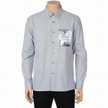 마인드브릿지 스트라이프 포인트 셔츠