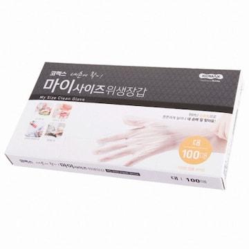 코멕스 내손에 착 마이사이즈 위생장갑 대 100매(1개(100매))