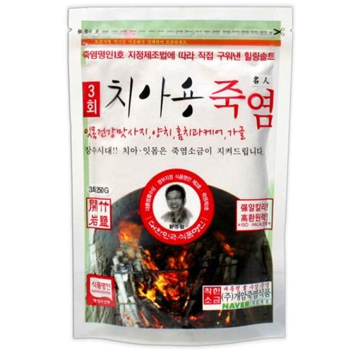 개암죽염식품 3회 치아용 죽염 250g (4개)_이미지