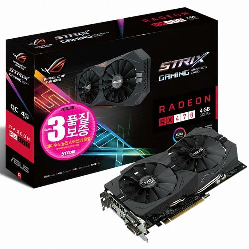 ASUS ROG STRIX 라데온 RX 470 O4G GAMING 4GB STCOM_이미지