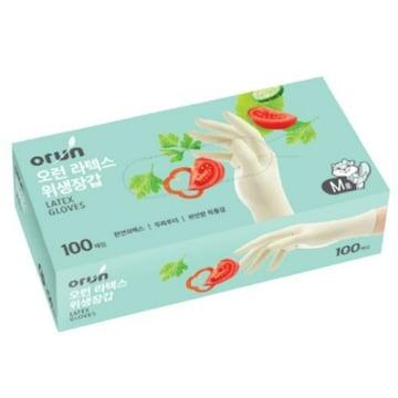 오런 라텍스 위생장갑 100매(1개(100매))
