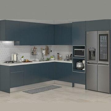 한샘  인디고S ㄱ자 키큰장형+냉장고장형 (~6.8m)