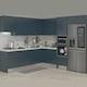 한샘 인디고S ㄱ자 키큰장형+냉장고장형 (~6.8m)_이미지