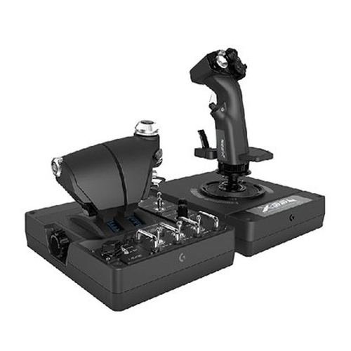 로지텍 X56 HOTAS RGB 스로틀 플라이트 스틱(병행수입)