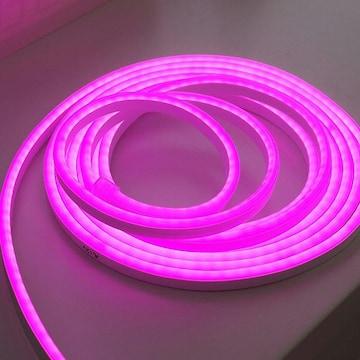 라이트컴 COMS LED 튜브네온 플렉시블 바 슬림형 세트 핑크 500cm